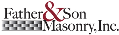 father and son masonry logo